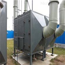 蓝阳环保泰兴废气处理喷淋塔厂家安装到位