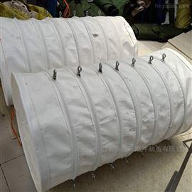 散装机头除尘吊环式伸缩帆布布袋
