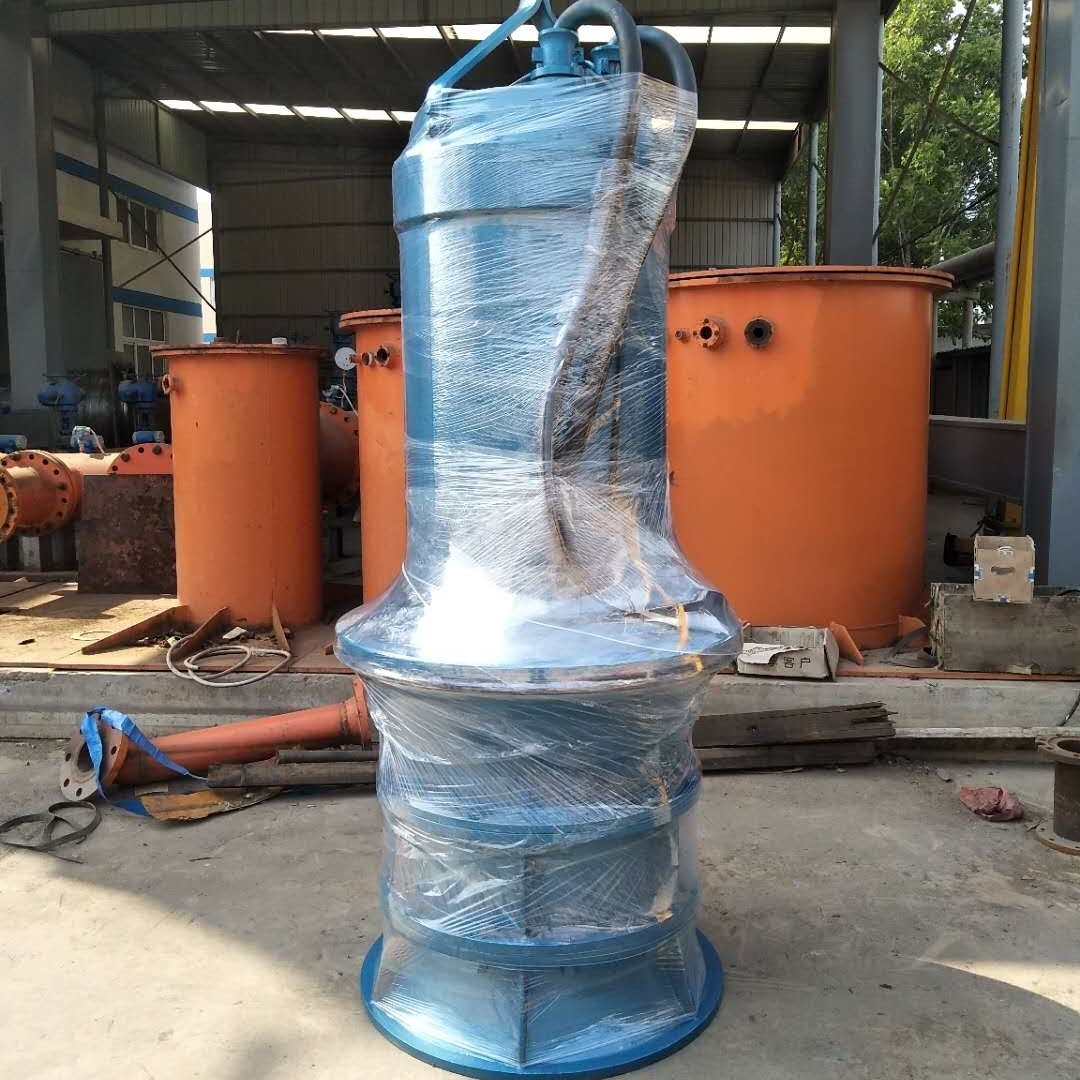 大流量潜水电泵悬吊式安装井筒式轴流泵