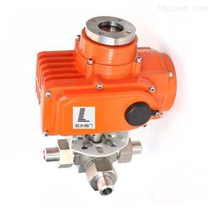 电动高压焊接三通球阀