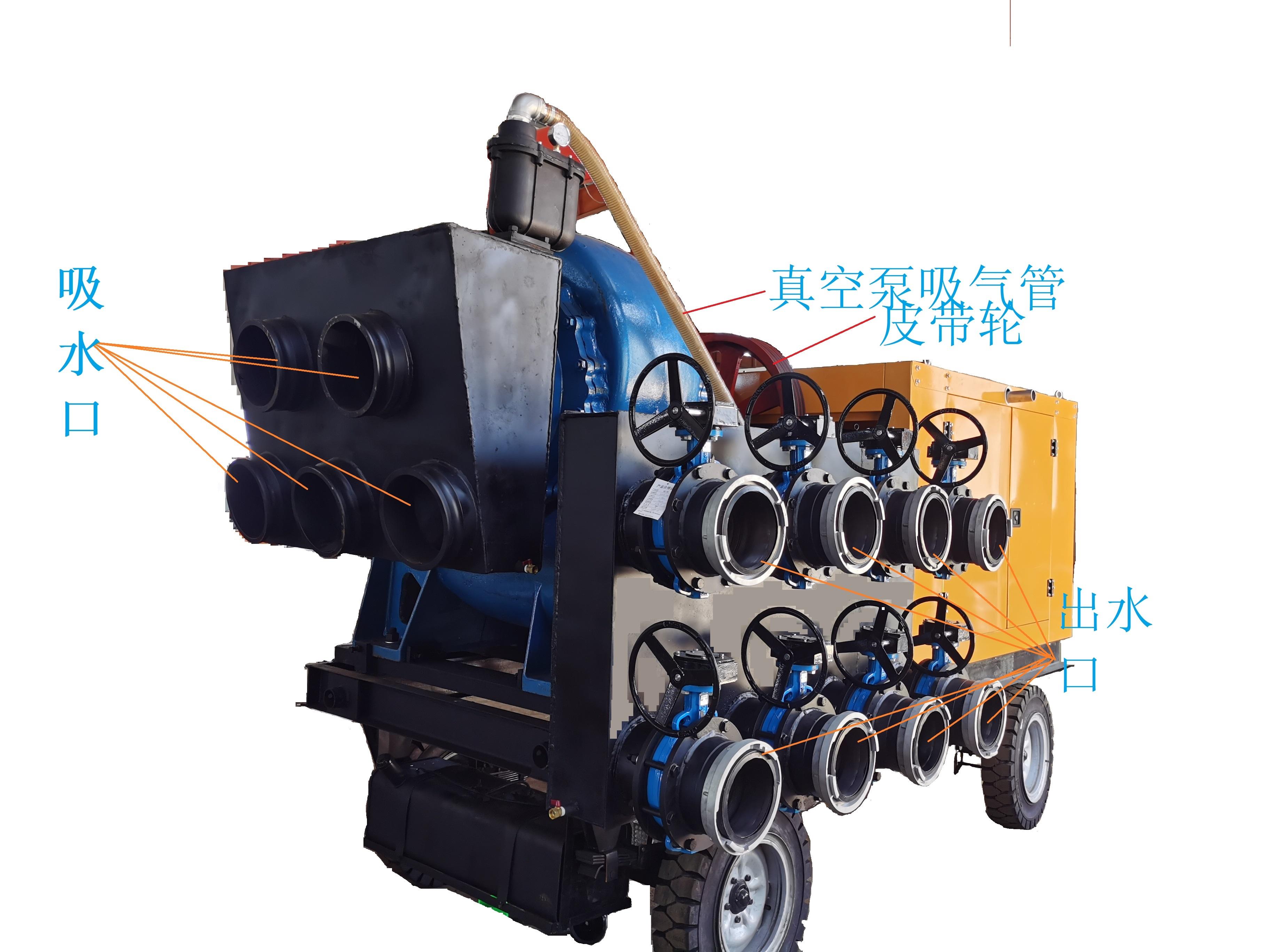 混流泵移动泵车结构图
