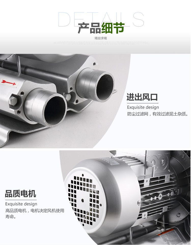 厂家3KW高压风机漩涡气泵 注塑机高压漩涡鼓风机示例图5