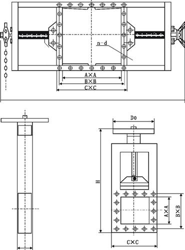 链轮式螺旋闸门图