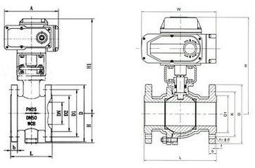电动调节球阀结构图