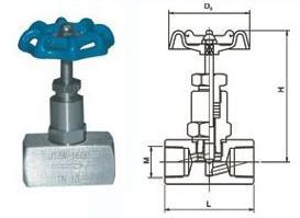 J13W-160P内螺纹针型阀