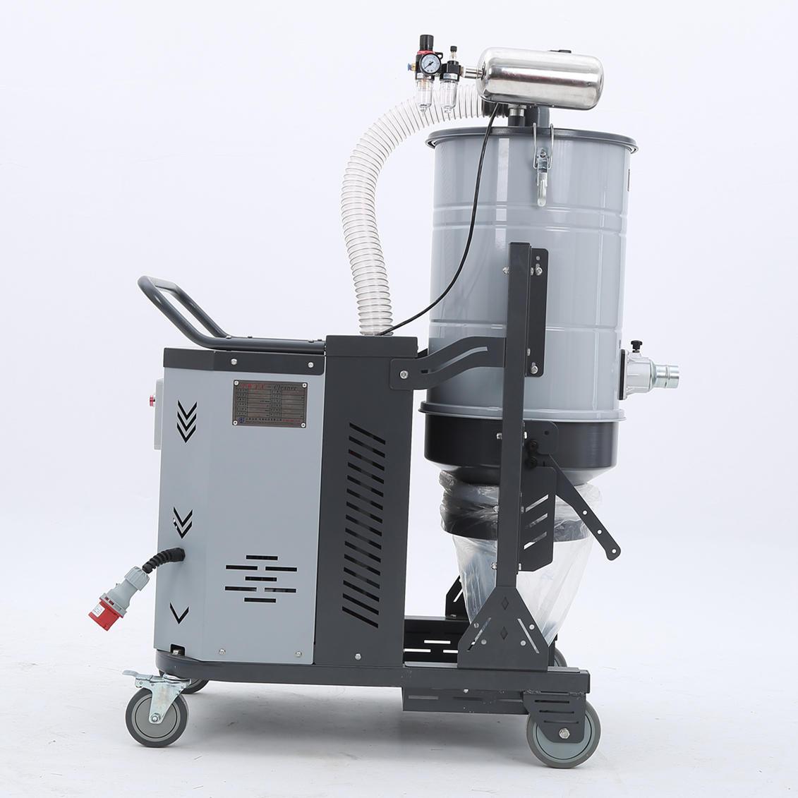 厂家吸石墨粉尘吸尘器 移动式脉冲反吹工业吸尘器 铝屑吸尘器示例图23