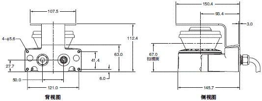 OS32C 外形尺寸 6