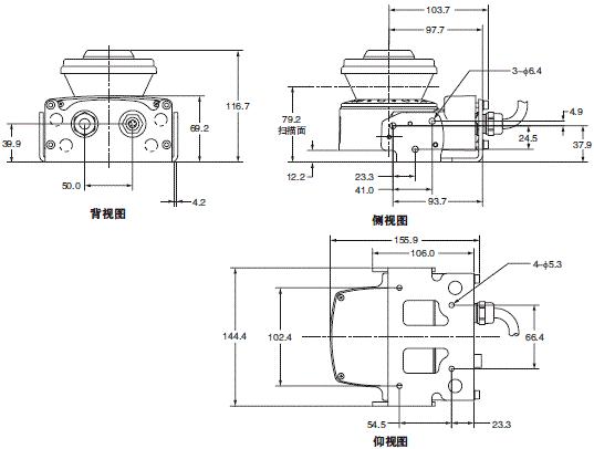 OS32C 外形尺寸 8