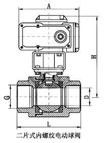 二片式內螺紋電動球閥