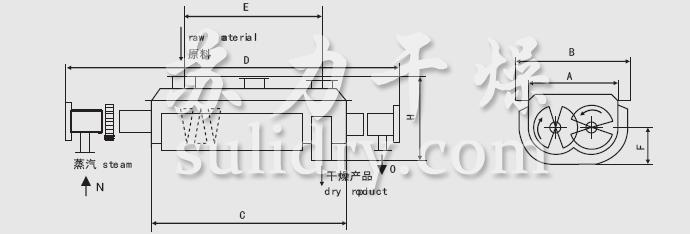 JYG系列空心槳葉干燥機安裝結構圖