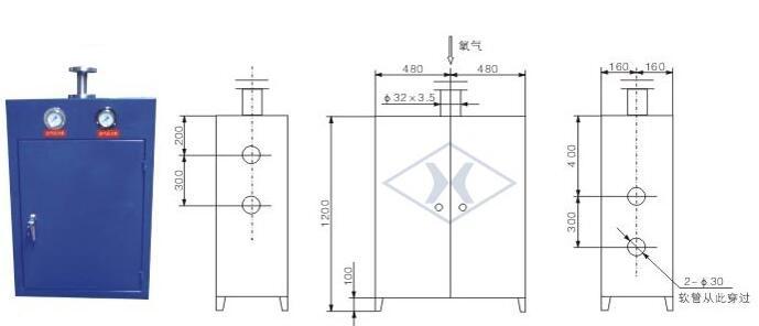 氧气点阀箱结构图