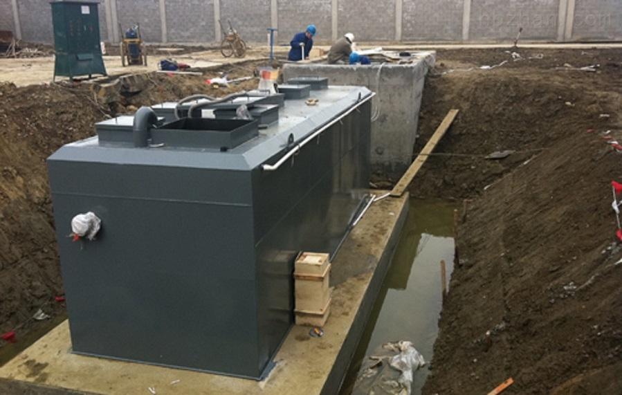 襄樊一体化雨水预制泵站安装环境